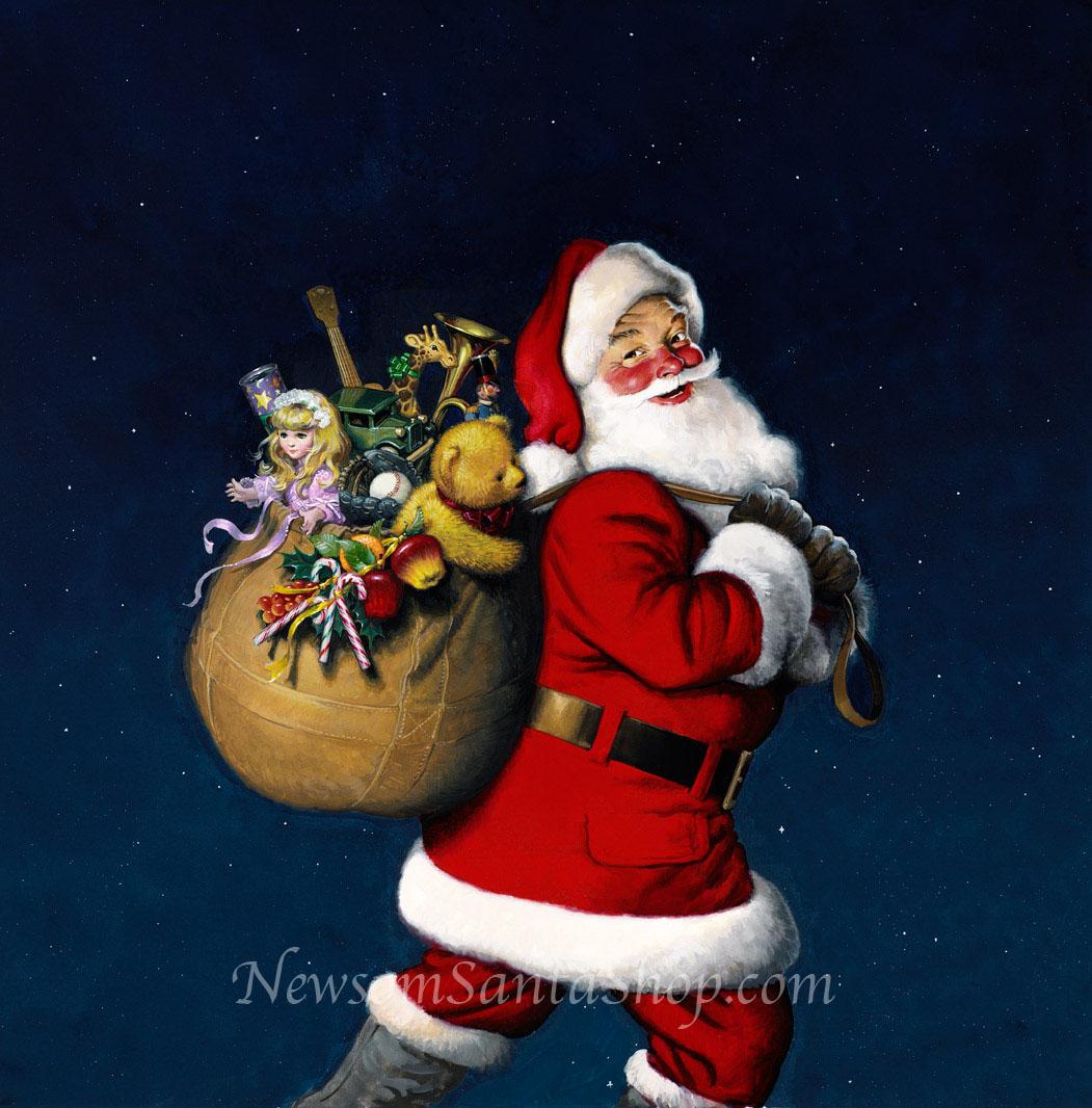 Санта и его сумка